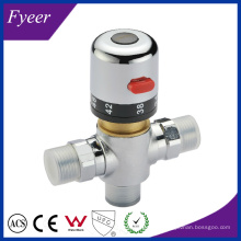 Válvula de mezcla termostática de latón con control de temperatura Fyeer Dn15 Dn20