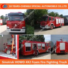 Caminhão da luta contra o incêndio da espuma de Sinotruk HOWO 4X2