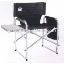 Aluminium folding director chair with cup plate and side bag/canvas director chair