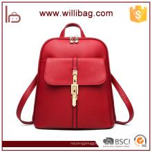 Factory Wholesale Fashion High Quality PU Ladies Bags Woman Backpacks