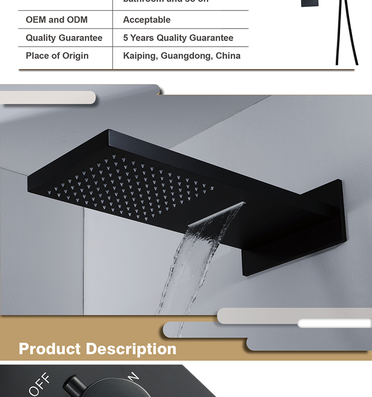 Black Shower Head