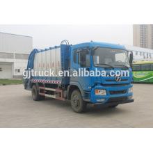 Camión de basura Dayun 4x2 drive compressor para 3-12 metros cúbicos