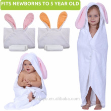 Shower Gift for Girl or Boy Newborn Infant | Large Cute Animal Hood No Cotton high quality baby towel with hood