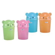 Colorful Flip-on Plastic Dustbin (A11-5019)