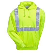 Men's High Visibility Cotton Blend Hooded Sweatshirt
