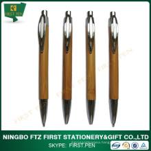 Custom Bamboo Ball Pen And Pencil