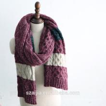 Moda mens malha lenço longo inverno