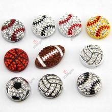 Bijoux Sportsball de 8 mm pour accessoires DIY