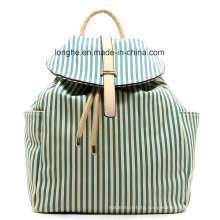 Fashion PU Leather Stripped Ladies Backpack (ZXS0054)