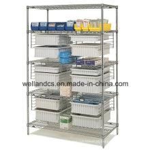 NSF ajustável rack de armazenamento de metal cromado para o hospital (CJ12045180A5C)