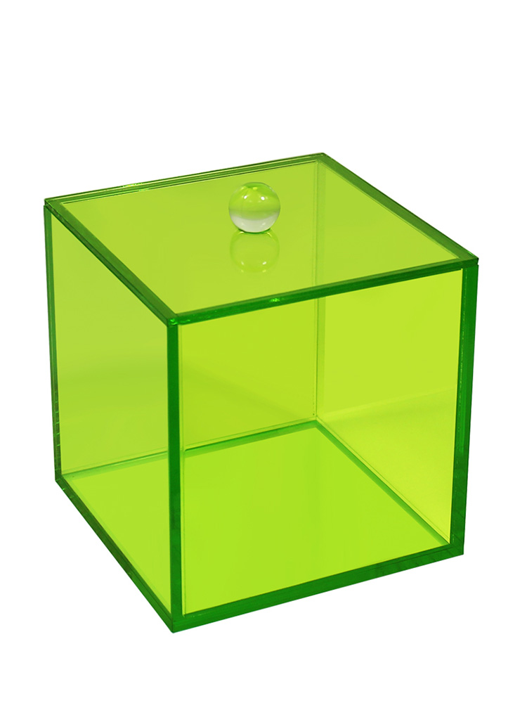 Acrylic Canister With Lid Green