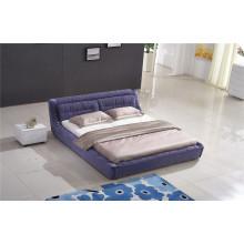 Mobiliário de quarto Mobília de casa de couro Cama macia