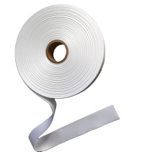 White color 100% polyester single side woven edge satin ribbon for garment labels