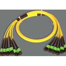 MPO-MPO Singlemode 76cores Trunk Fiber Optisches Patchkabel
