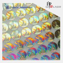 Hologramm benutzerdefinierte selbstklebende Stoff Aufkleber Etikett