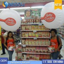 Украшение Рекламные шары ПВХ Ходьба Освещение Шары Надувной Рюкзак Воздушный шар