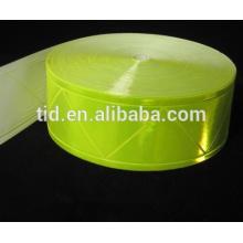 Fita amarela fluorescente de alto brilho para roupas de segurança, ANSI / ISEA 107 RT-PVCL2-FLY nível 2