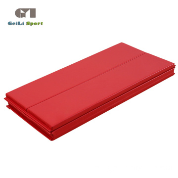 Tapete grande para gimnasio plegable rojo Workout