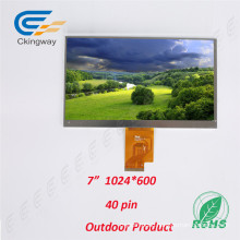 "7"" 40 Pin Sunlight Readable TFT Display"