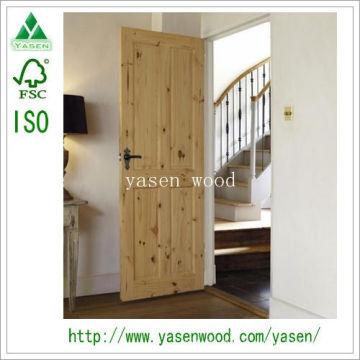 Best Price 4 Panel Interior Pine Wood Door