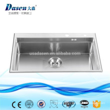 Stainless steel 10/18 nickel top grade hand built dish washing sink R15 radius
