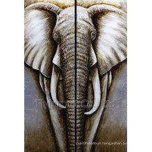 Canvas Animal Oil Painting for Elephant