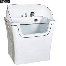 Aokeliya new design large white acrylic dog grooming bath tub for sale