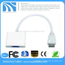 Adaptateur mini-adaptateur hdmi à vga de 15 cm HDMI mâle à vga femelle pour Tablette PC au projecteur