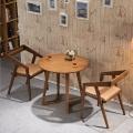 Деревянная мебель гостиной классической твердой древесины круглый обеденный стол