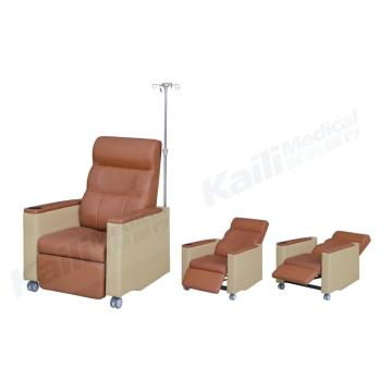Chaise d'hôpital inclinable d'infusion de sofa de transfusion médicale