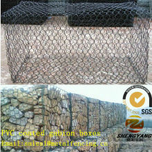 Asia supplier steel wire woven cages for stone hexagonal netting binding gabion baskets PVC coated stone cages wire mesh