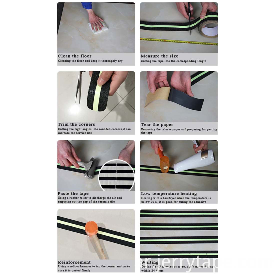 Structure Of Waterproof Non Slip Stair Treads Tape