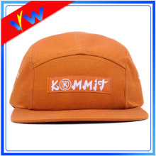 100% Cotton Woven Logo 5 Panel Hat