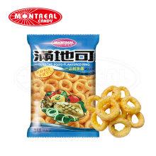 Snack feuilleté en forme d'anneau à saveur de calmar