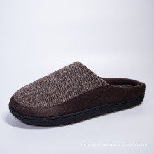 Hot Selling High Quality Custom Logo Men Home Sude Woolen Yarn Indoor Flat Heel Light Weighted Slippers Soft