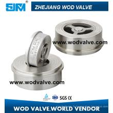 Clapet anti-retour de gaufrette d'acier inoxydable de H71W (clapet anti-retour de type de disque)
