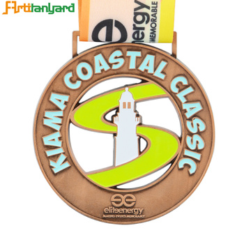 Plated Metal Souvenir Medal 2d Debossed Logo