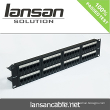 Panneau de raccordement 1 u 48 ports pour accessoires de câblage réseau RJ45 / RJ11