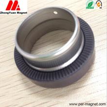 Инжекционный пластиковый ферритовый магнит с узлом вала