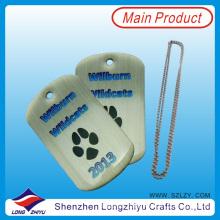 Custom Logo Hot Sale Dog Tags with Epoxy of Paw