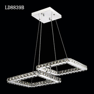 Factory Outlet Crystal chandelier lighting square moden