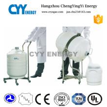 Recipiente criogénico portátil de nitrógeno líquido con certificación ISO y Ce