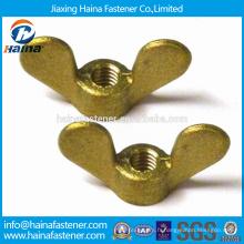 Fournisseur en Chine En Stock DIN315 Écrou à ailettes en laiton / écrou à ailes marron