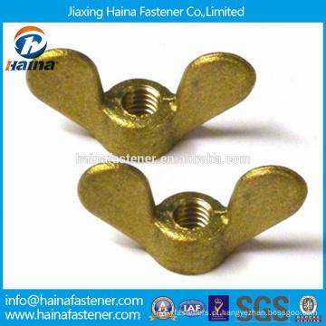 China Fornecedor Em Estoque DIN315 Latão Asa Porca / Borboleta Asa Porca