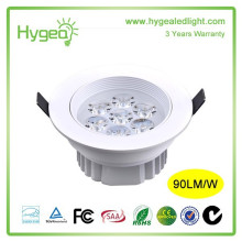 Nouveau Conçu 7W Downlight Convertisseur antibrouillard Super brillant Downlight à économie d'énergie AC 85-265V