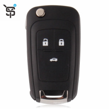 Top quality black car remote key 3 button folding car remote key for Chevrolet with ID46 chip 315 MHZ YS100110