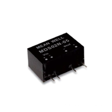 Meanwell MDS02 & MDD02 series 2W SIP Package DC-DC Medical Grade Unregulated Converter