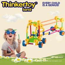 Blocs de construction de jouets intellectuels et éducatifs en plastique