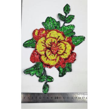 OEM Flower sequin patch