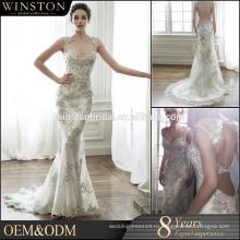 Высокое качество Организации Объединенных Наций кутюр платье тяжелых бисером свадебное платье